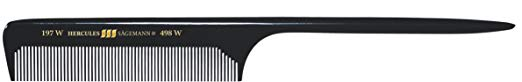 Hercules Sägemann Long Rounded Tail Hair Comb with wide teeth 8½