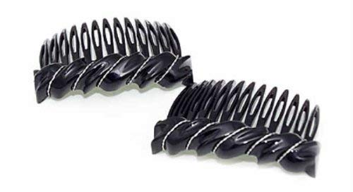 Premium Side Comb European Made in Black Wave 1057/2