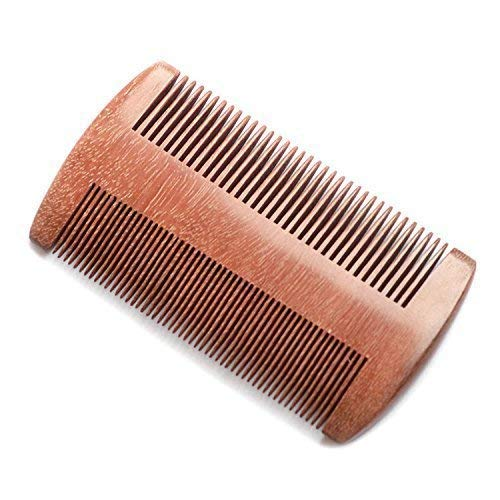 EQLEF® Red sandalwood no static handmade comb, Pocket comb (beard)