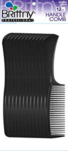 Brittny Bulk Handle Combs - Black 12-Count (Pack of 6)