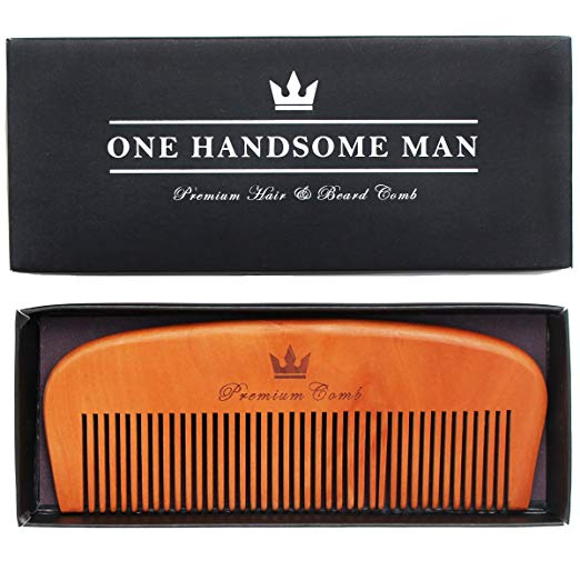 Premium Hair and Beard Comb - Quality Design with Gift Box. Perfect for Beards, Mustaches, or Head Hair.
