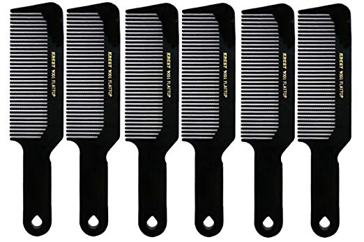 Barber Beauty Hair Krest 9001 8 3/4 Flattop Comb (6 Pack) 6 x SB-K9001-BLK