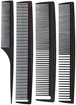 Hair Tamer Carbon Stylist Comb Variety 4 Pack